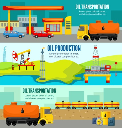 horizontal: Petroleum Industry Colorful Horizontal Banners