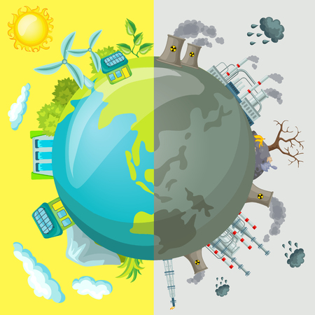 Ecology Cartoon Comparative Concept