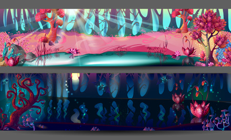 horizontal: Enchanted Forest Horizontal Banners