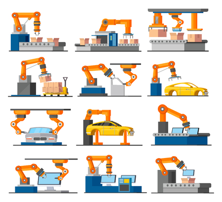 Ensemble d'éléments de processus industriels d'automatisation