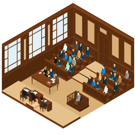 judicial: Isometric Judicial Session Room Template