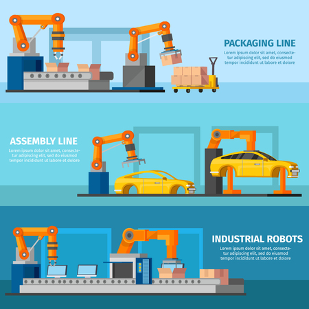 automated: Industrial Automated Manufacturing Banners