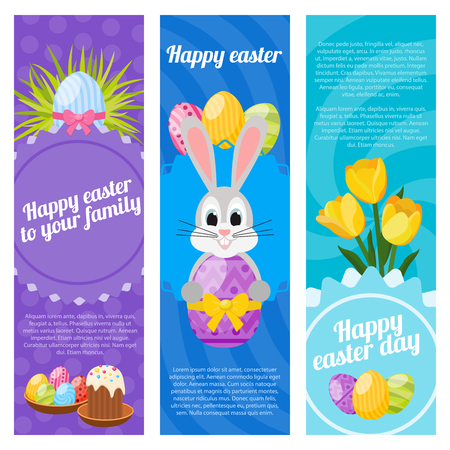 Happy Easter Day Vertical Banners