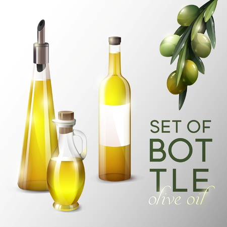 Realistic Olive Oil Template