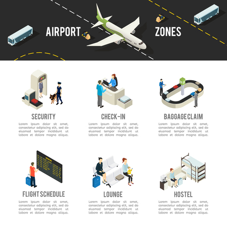 Isometric Airport Zones Template