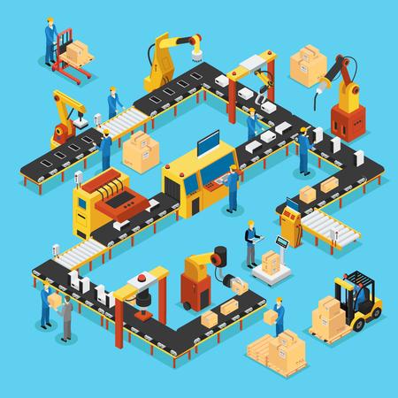 Koncepcja izometrycznej automatyzacji linii produkcyjnej