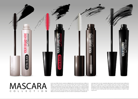 Realistic Cosmetic Mascara Collection