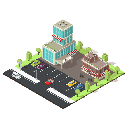 Isometric Shopping Center Template