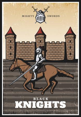 Colorful Vintage Medieval Poster