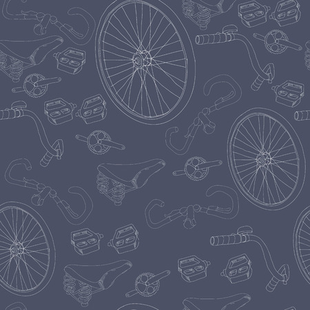 Hand Drawn Bicycle Seamless Pattern Stock Vector - 75317701