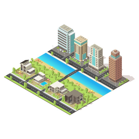 Isometric City Landscape Template