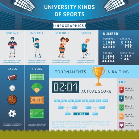 University Sport Infographic Concept