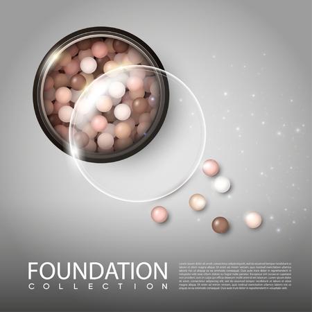 Realistic Makeup Blusher Poster