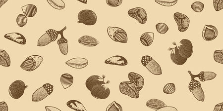 Organic Seeds Seamless Pattern