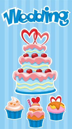 Colorful Wedding Desserts Poster