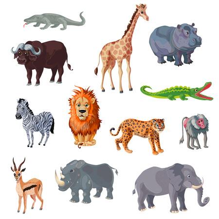 漫画アフリカの動物セット