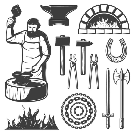 Vintage Blacksmith Elements Set