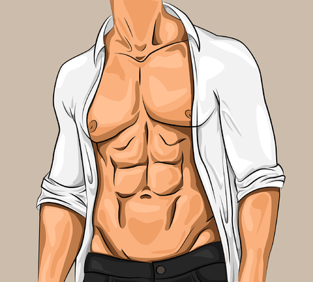unbuttoned: Comic Attractive Young Man
