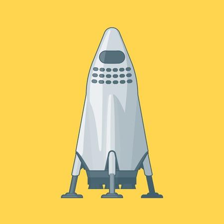 近代的な金属の宇宙船のコンセプト
