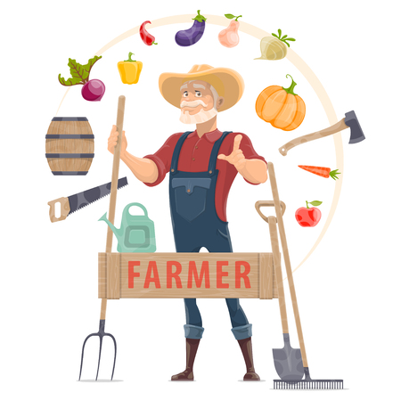 Agronomist Elements Round Concept Illustration