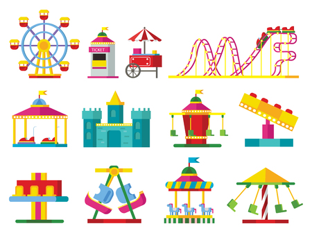 Colorful Attractions Collection Illustration