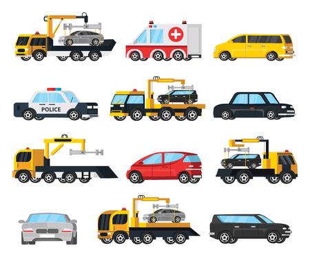 incorrect: Colorful City Transport Evacuation Set Illustration
