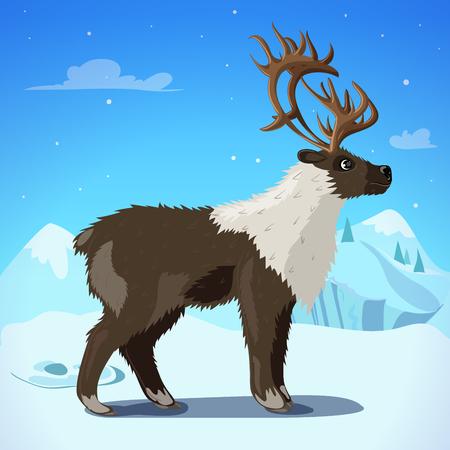 Cartoon Colorful Reindeer Template
