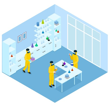 Isometric Science Research Concept