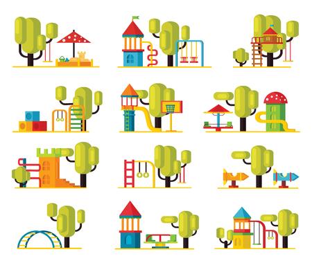 Kleurrijke Speelplaats Elementen Collectie