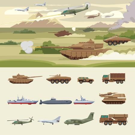 Militärisches Transportkonzept Standard-Bild - 76354512