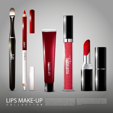 Cosmetology Realistic Products Set