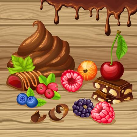 Cartoon Sweet Products Set