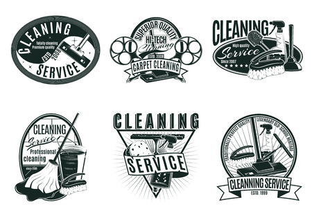 Vintage Professional Cleaning Service Labels Set