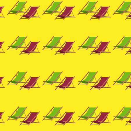 フラット夏ビーチ椅子パターン