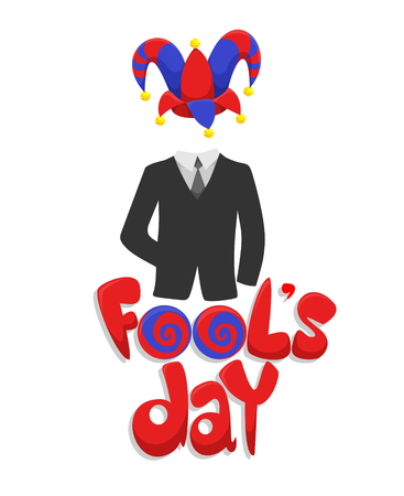Colorful First April Fools Day Concept