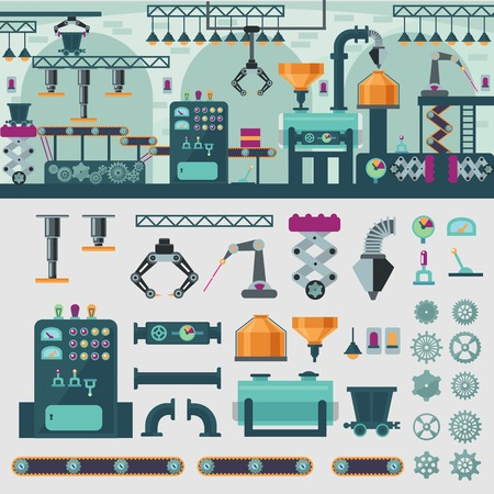 Factory Interior Concept Illustration