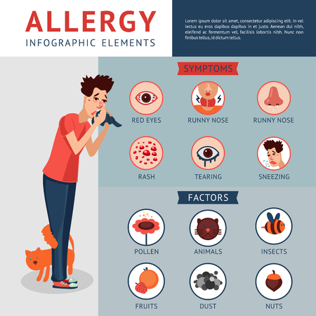 Allergy Infographic Concept Фото со стока - 76709480