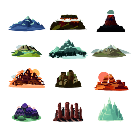 Mountain Landscapes Collection Ilustrace