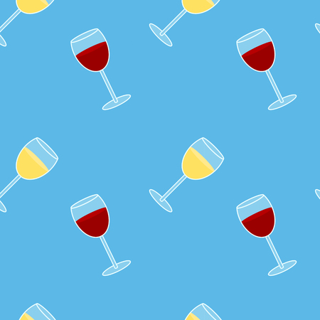 Colorful Drawing Alcohol Drink Seamless Pattern