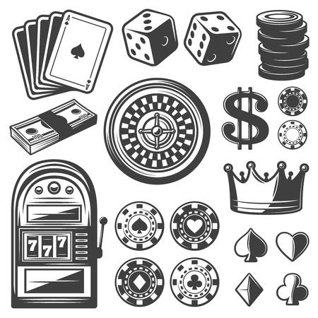 wheel of fortune: Vintage Casino Elements Set