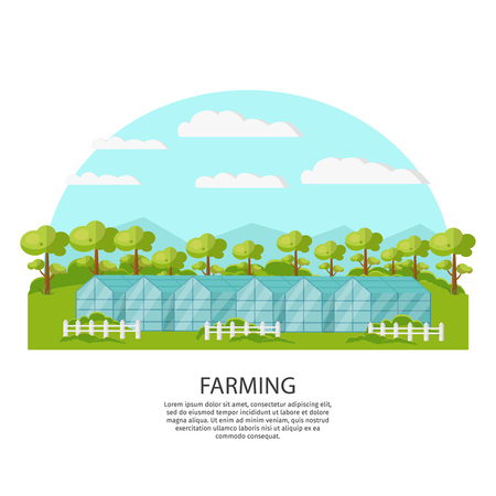 Colorful Agronomy And Agriculture Concept Ilustrace