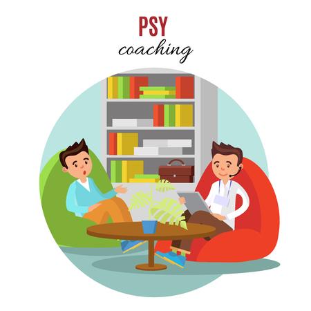 Colorful Psychological Training Concept Ilustracja