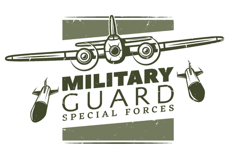 Vintage Military Logotype Template Vectores