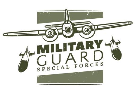 Vintage Military Logotype Template Stock Illustratie