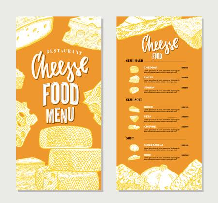 ビンテージ チーズ レストラン メニュー テンプレート