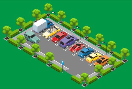 Isometric Parking Zone Concept