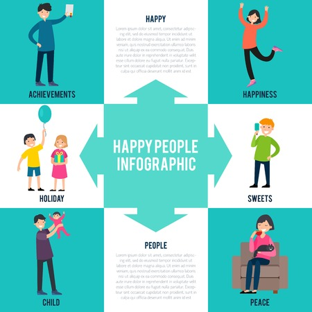 Cheerful Characters Infographic Concept
