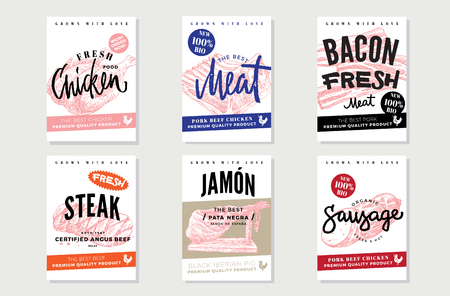 Natural Meat Promotional Posters.