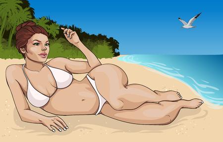 Cartoon Summer Vacation Concept.