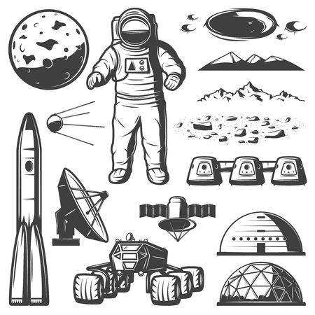 Vintage Mars Space Elements Collection.